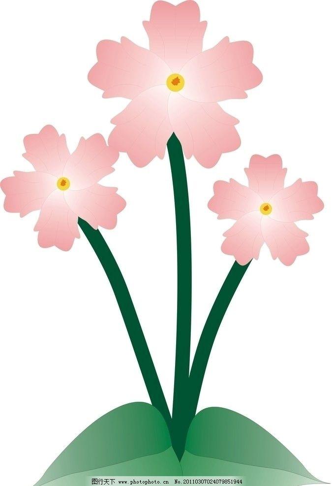 小花 花朵 自然风景 自然景观 矢量 cdr