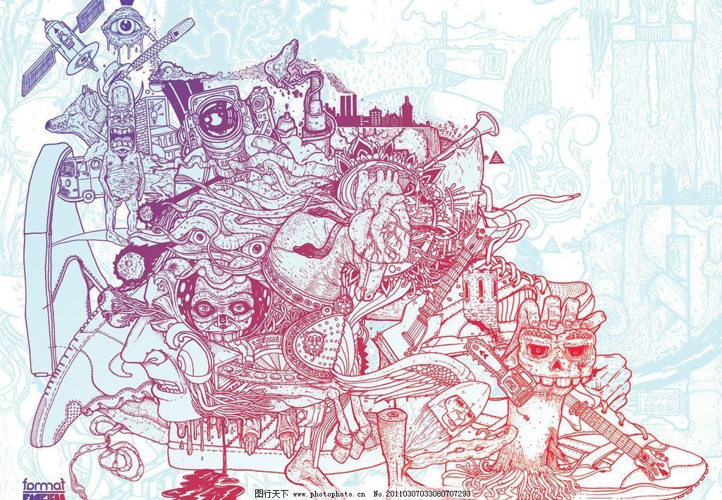 创意涂鸦桌面壁纸图片