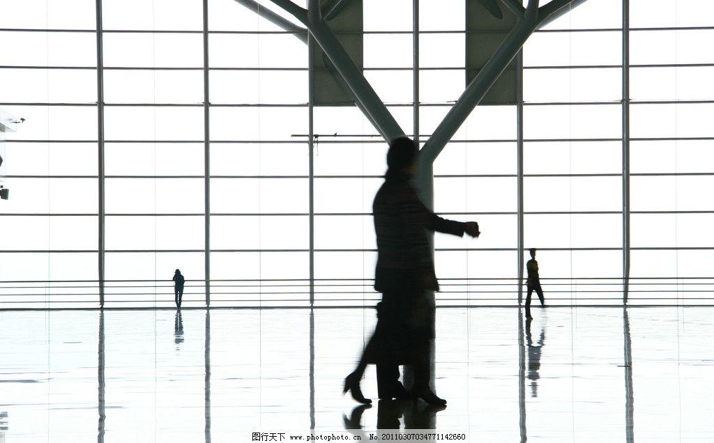 武广高铁 火车站 剪影 人物 倒影 建筑景观 自然景观 摄影 72dpi jpg
