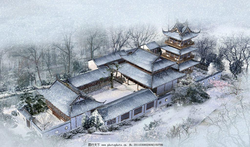 游戏古建筑设计效果图图片