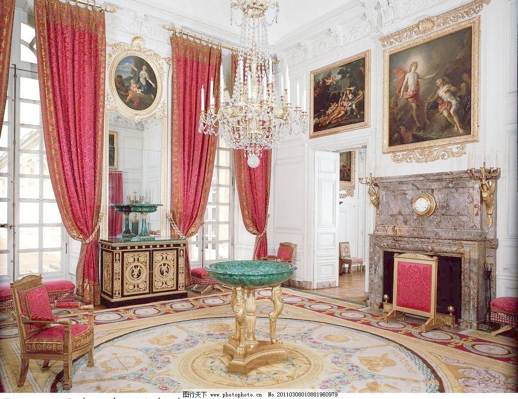 欧式室内高清 吊灯 高贵 宫殿 华丽 画框 皇宫 建筑园林 欧式室内高清