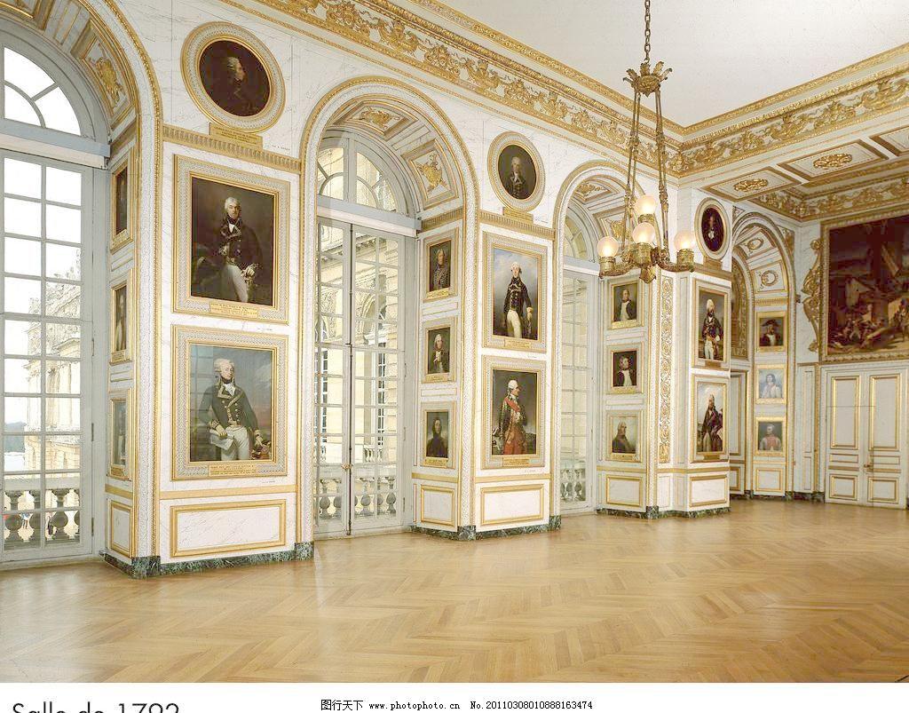 欧式室内高清图片,吊灯 高贵 宫殿 华丽 画框 皇宫-图