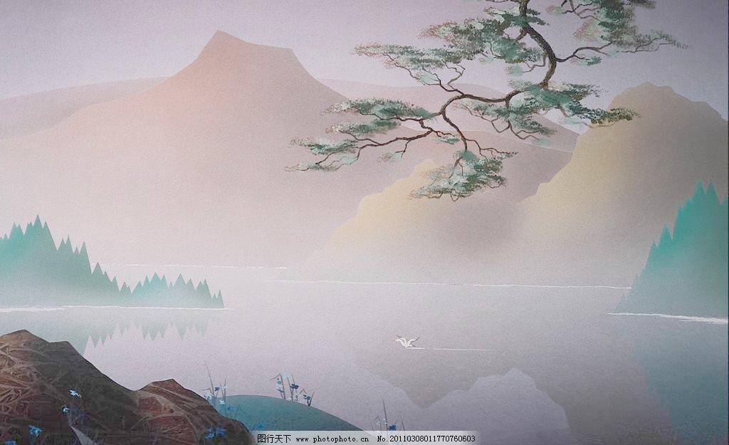 山水风景水彩画教程步骤图片