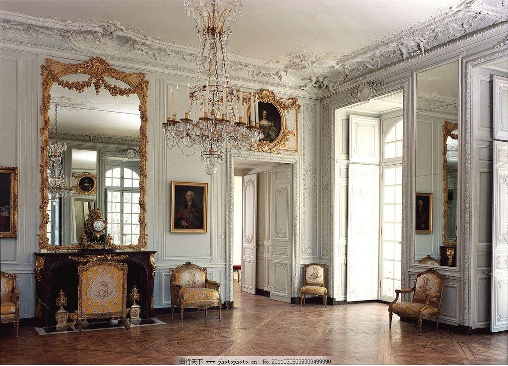 欧式建筑 画廊 客厅 油画 画框 装饰品 皇宫 宫殿 雕塑 吊灯