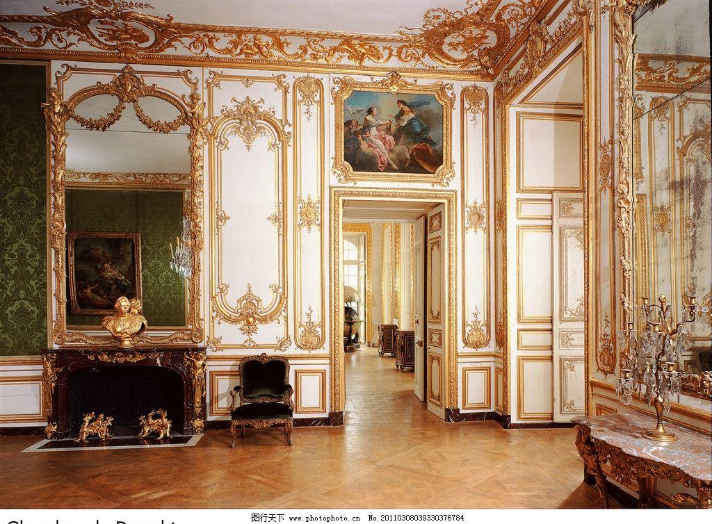 欧式建筑 画廊 客厅 油画 画框 装饰品 柱子 欧式 皇宫 宫殿 雕塑