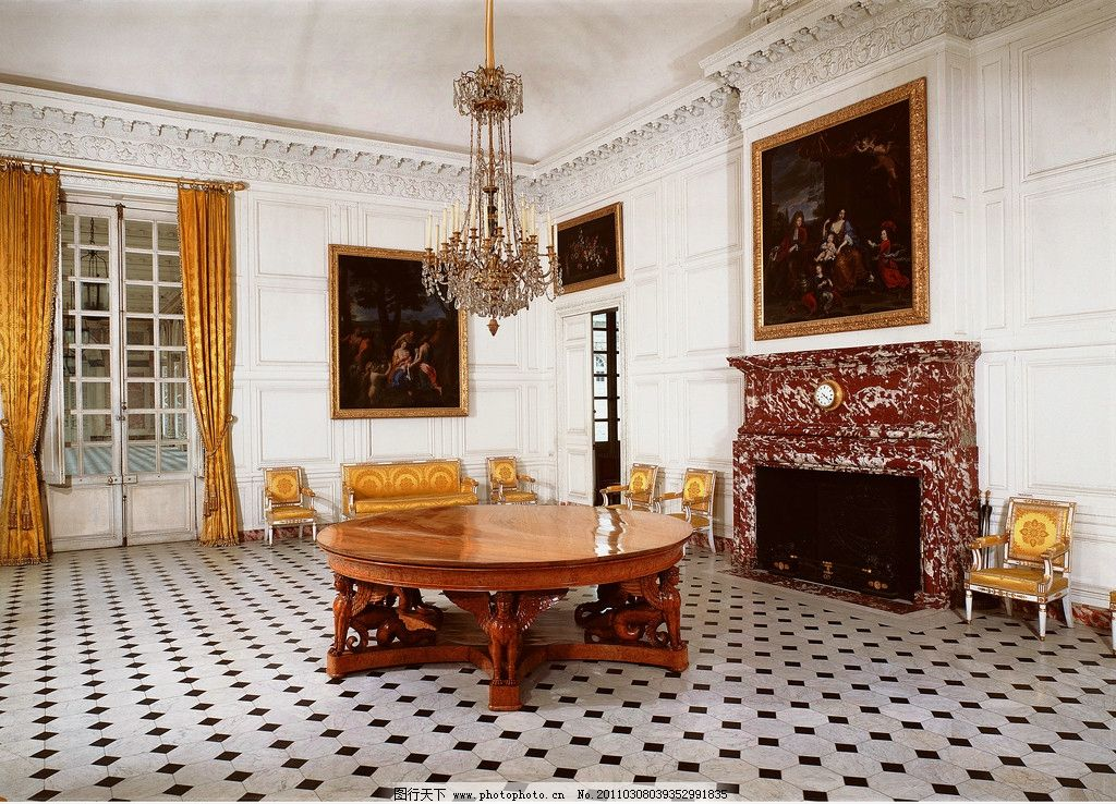 欧式室内高清图片,欧式建筑 油画 画框 皇宫 宫殿-图
