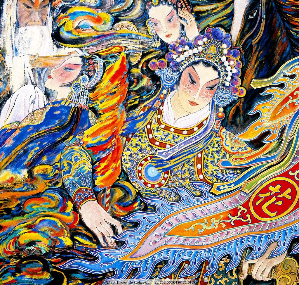 花木兰 美术 绘画 中国画