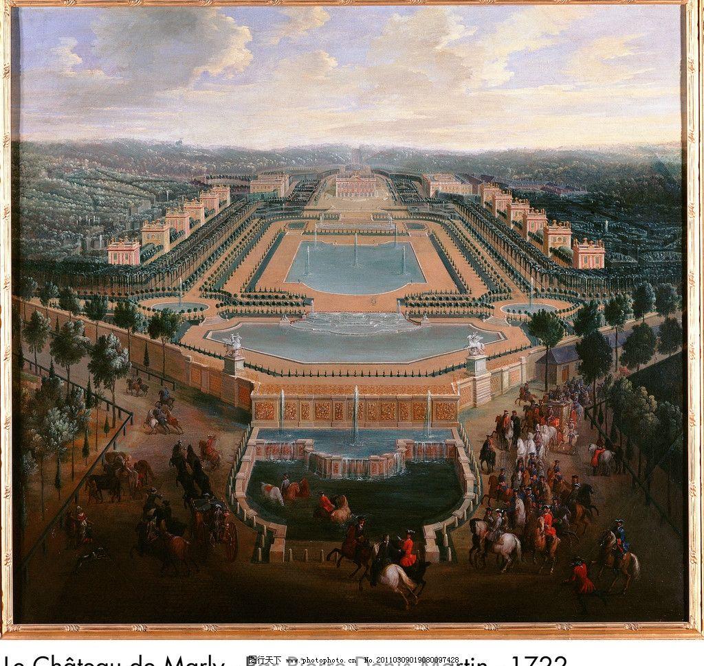 城市油画 城市 风景油画 景观 欧式 皇宫 宫殿 尊贵 欧洲建筑风格