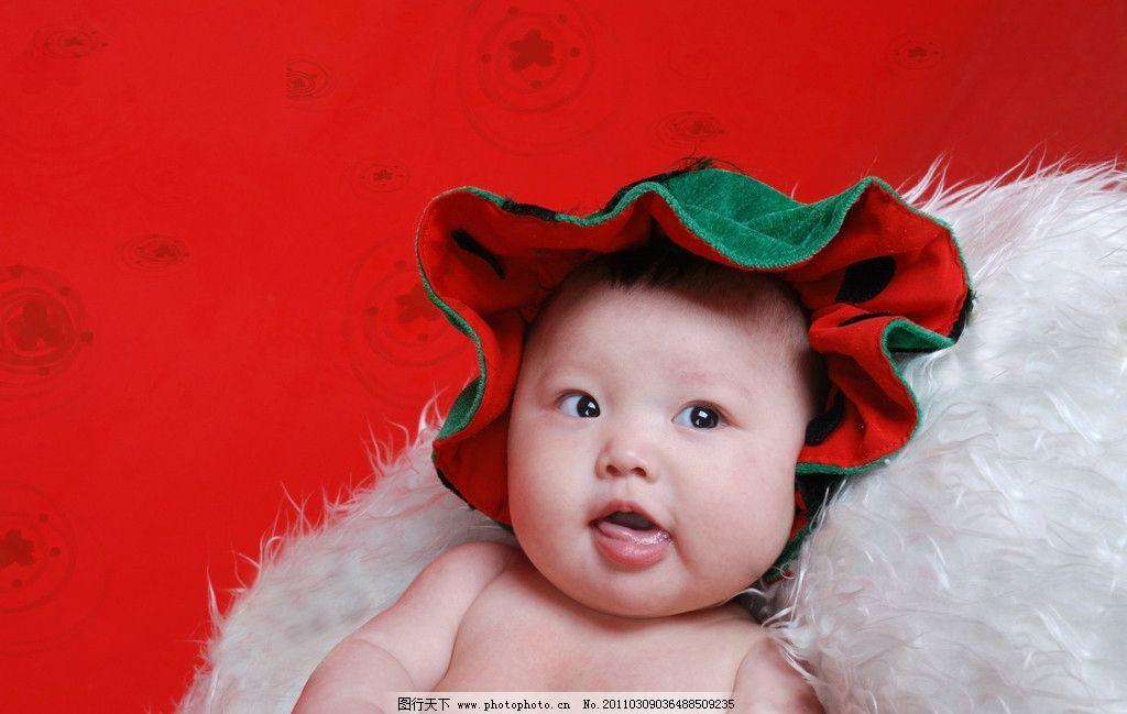 宝宝 小孩 耍宝的宝宝 西瓜装 可爱宝宝 儿童幼儿 人物图库 设计 300