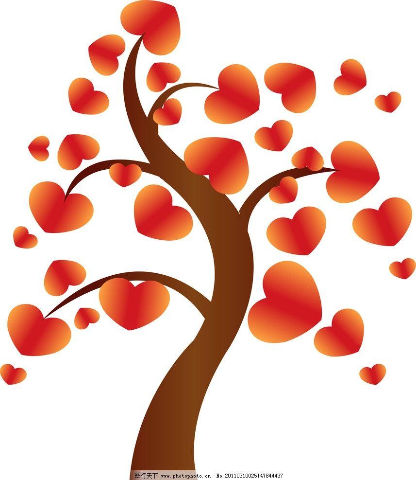 树木 盛开的花朵 花 花朵 美丽 花蕊 花瓣 红心 心形 花草 生物世界