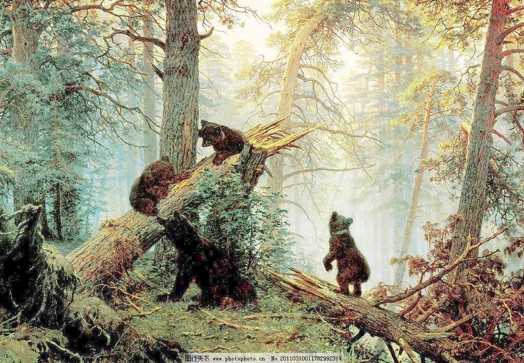 72dpi jpg 风景画 绘画 绘画书法 美术 清新 森林 设计 树林 森林的
