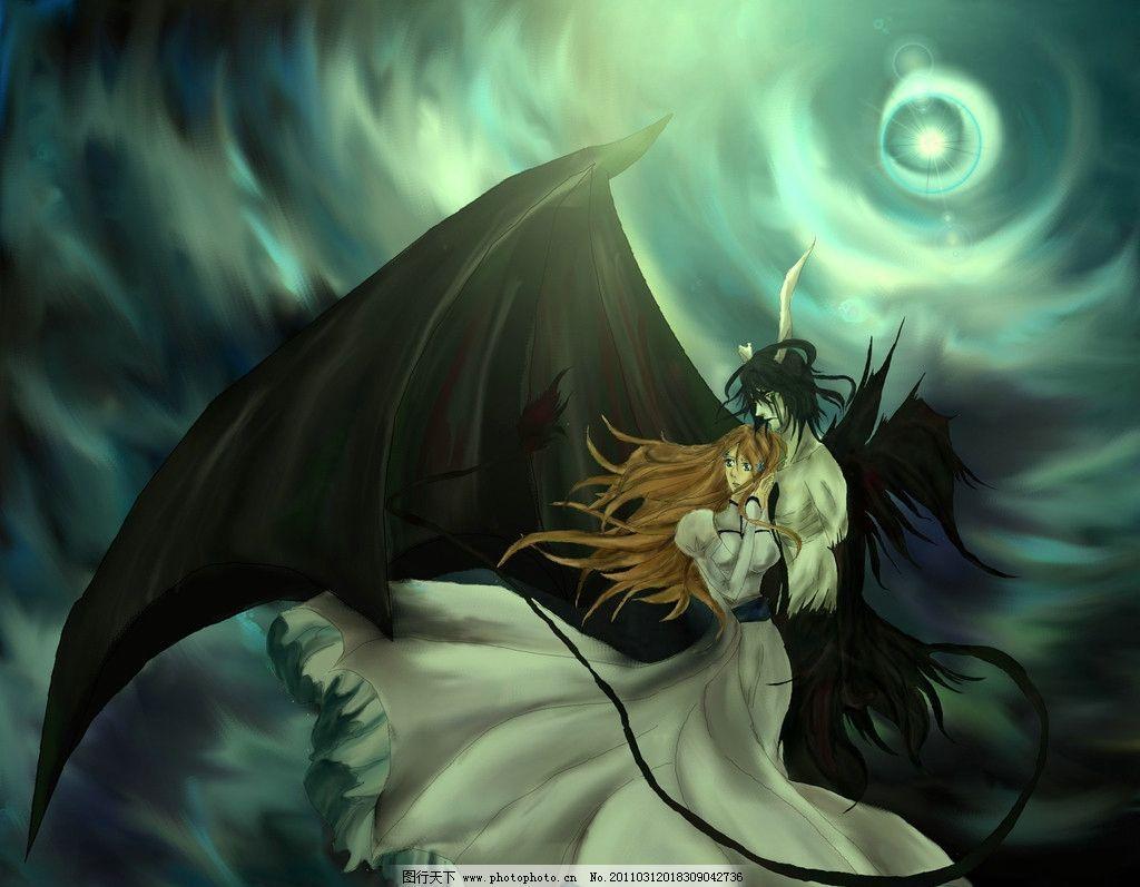 死神 翅膀 妖怪 女孩 动漫人物 动漫动画 设计 72dpi jpg