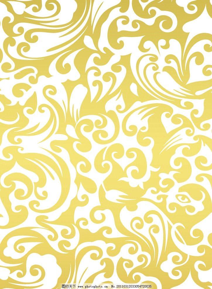 金色欧式底纹 漂亮 欧式 金色 典雅 底纹 psd分层素材 源文件 300dpi图片
