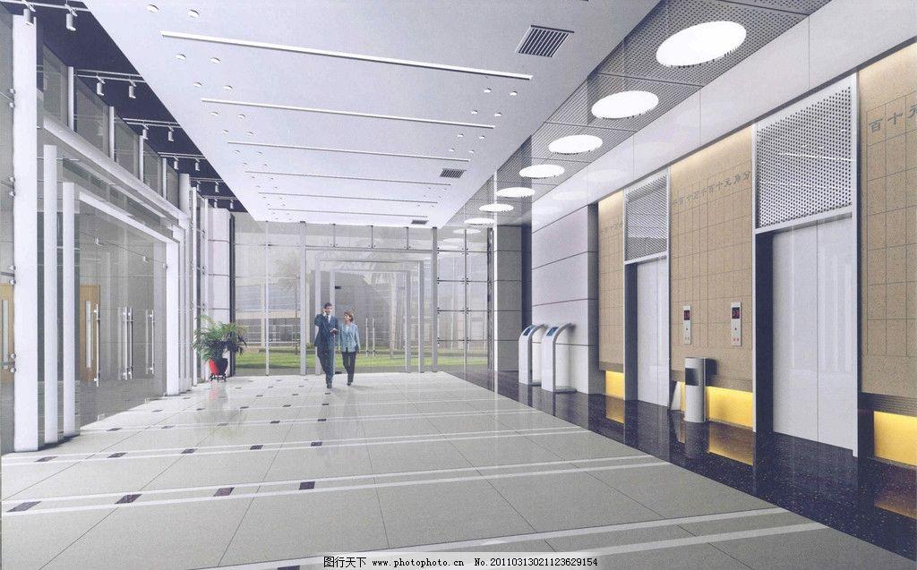 電梯 公共建筑模型 公司 裝修效果圖 室內設計 室內裝修設計 裝飾