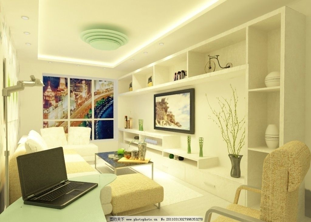 小户型客厅效果图图片