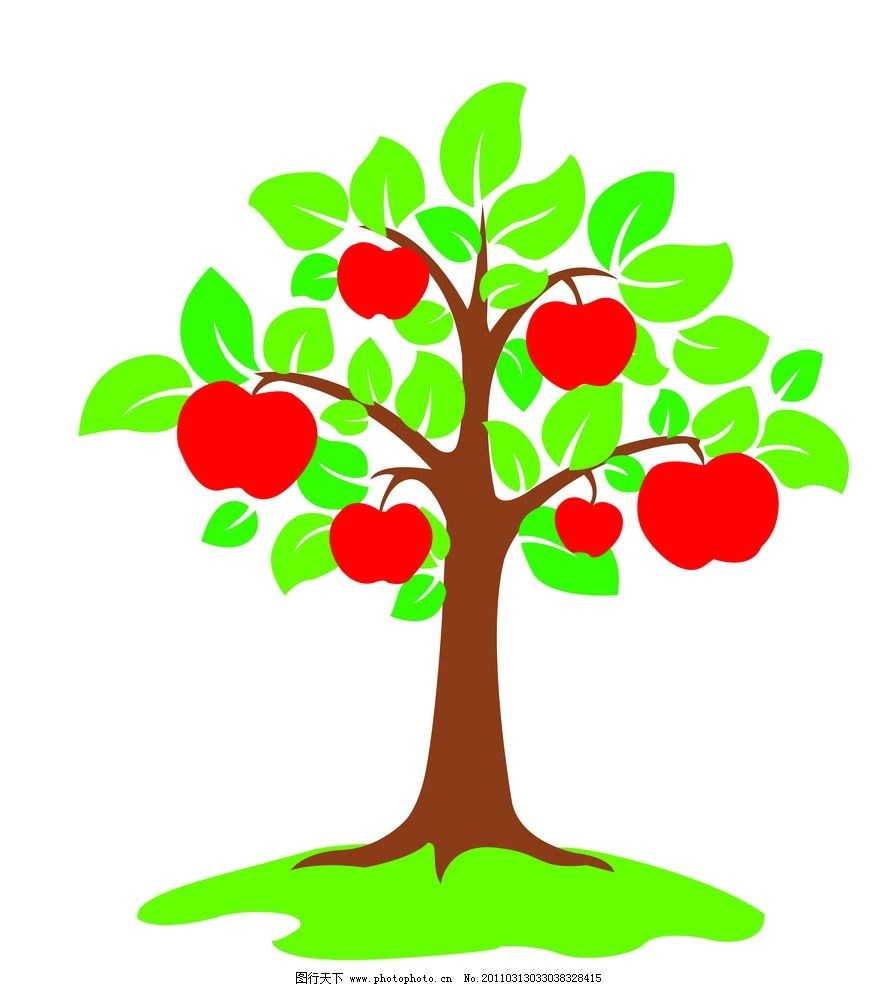 苹果 树 矢量树