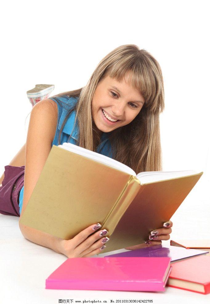 女生 女学生 高中生 大学生 青春 活力 职业人物 课本 看书