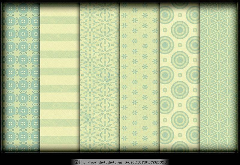 花卉图案 花卉装饰 四方连续图 二方连续图 欧美风格 欧美花纹 ps插件