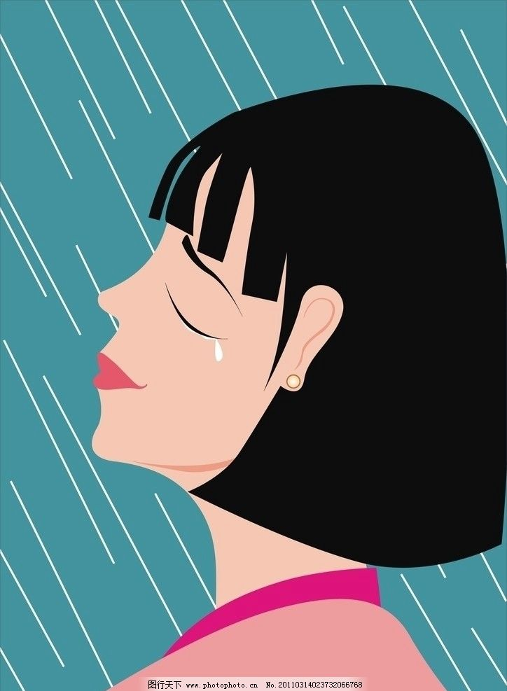 哭泣的美女 矢量女人 妇女女性