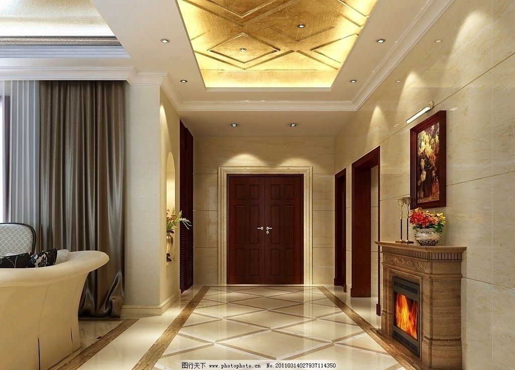 玄关设计效果图 室内设计效果图 室内设计 装修设计 客厅设计 个性