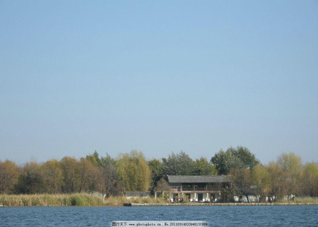 洱海 大理 树木 树林 蓝天 房屋 国内旅游 旅游摄影 摄影 300dpi jpg