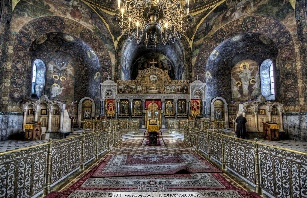 风景 高清 旅游摄影 国外旅游 摄影 hdr 乌克兰 教堂 欧式建筑 吊灯