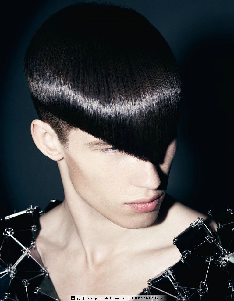 时尚发型 染色 美发 型男 人物摄影 人物图库图片