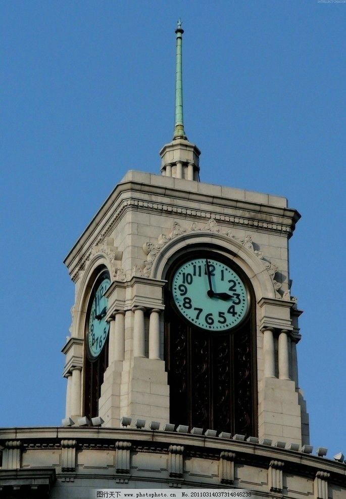 欧式钟楼高清素材图片