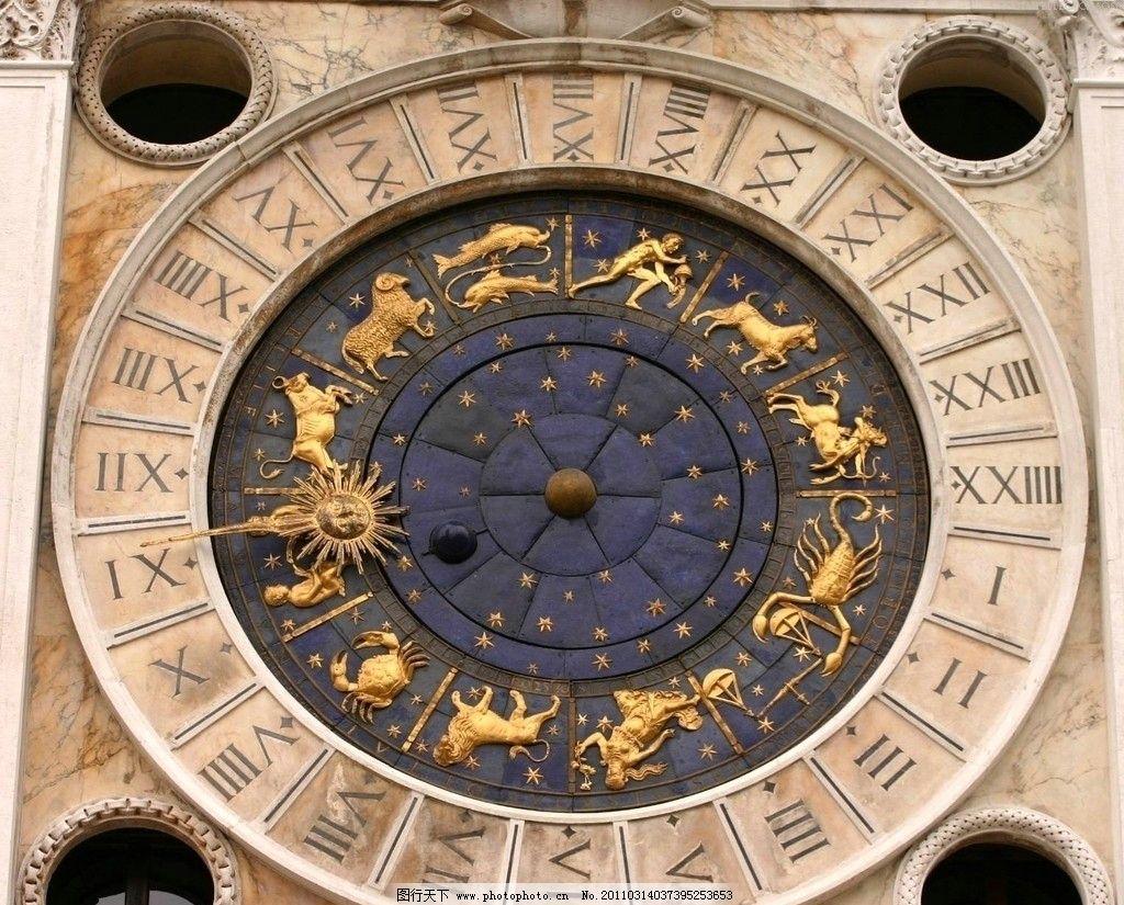 欧式挂钟高清素材图片