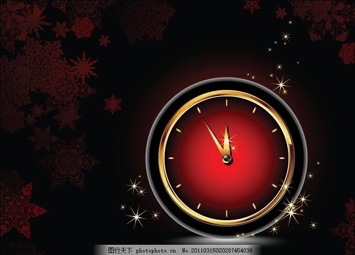钟表背景矢量素材