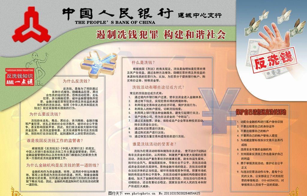 人民银行反洗钱展板 反假 反假币 征信 征信知识 综合治理 宣传