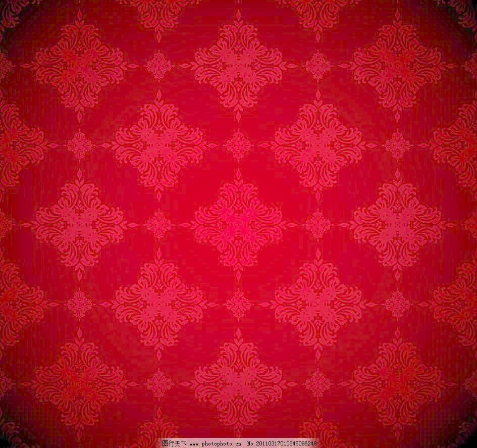 古典底纹 古典花纹 精美花纹 精致 无缝欧式古典花纹底纹矢量素材