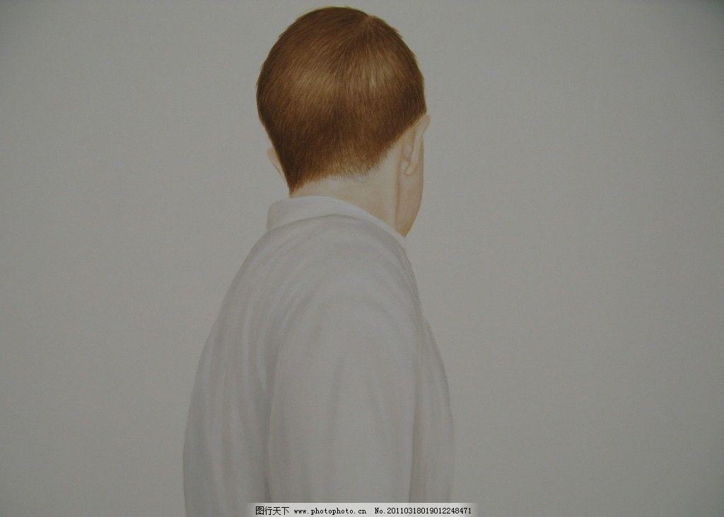 人物水彩画 背影 棕发 半身像 水彩 绘画书法 文化艺术 设计 180dpi