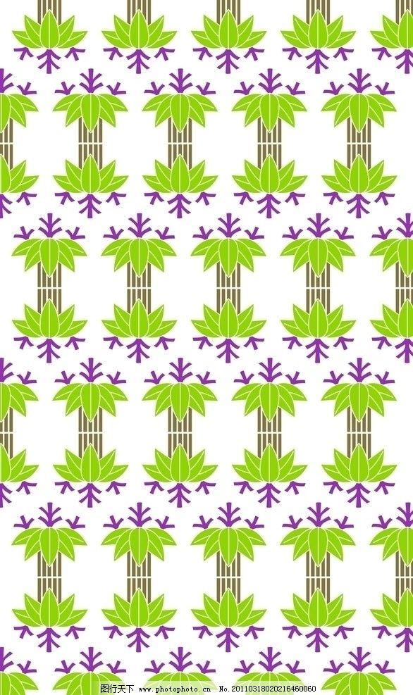 日式花纹 日式 花纹 绿色系