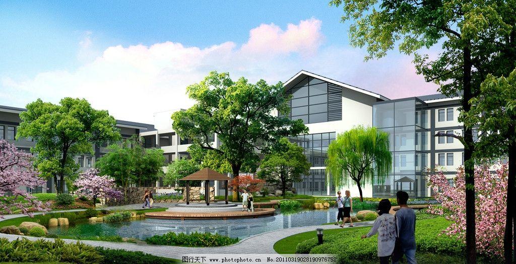 法水 天沐 度假村 度假村宾馆后院        景观设计 环境设计 设计 72
