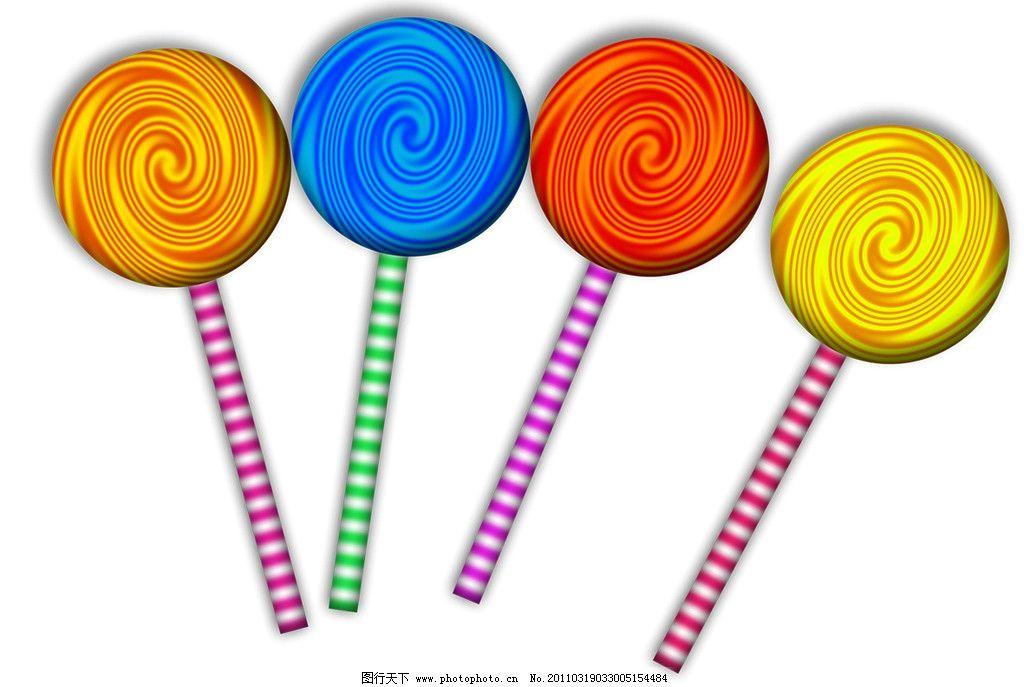 棒棒糖素材 棒棒糖 彩色棒棒糖 psd分层素材 源文件 250dpi psd