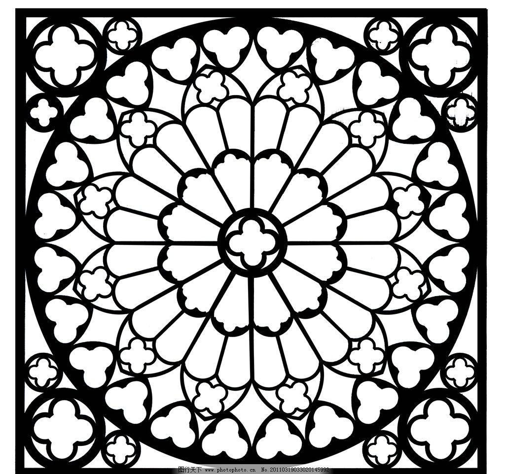 雕刻图案 花纹 花边 花框 雕刻 图案 欧式 屏风 矢量图 底纹 装饰花纹