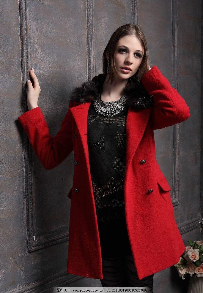 时尚冬装 欧美女模特图片