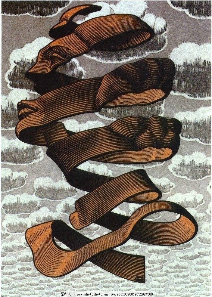 埃舍尔图片 埃舍尔 视错觉 平面构成 绘画书法 文化艺术 设计 300dpi图片