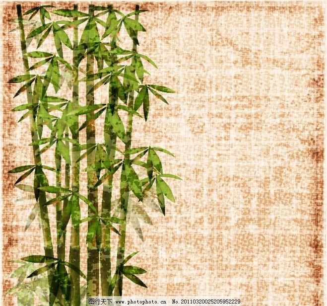矢量素材 绿色 竹子 竹林