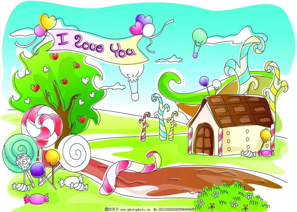 幼儿园风景画图片