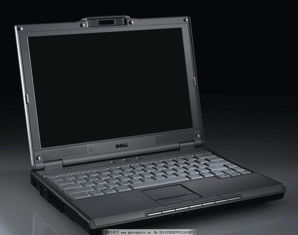 笔记本电脑 黑色 戴尔