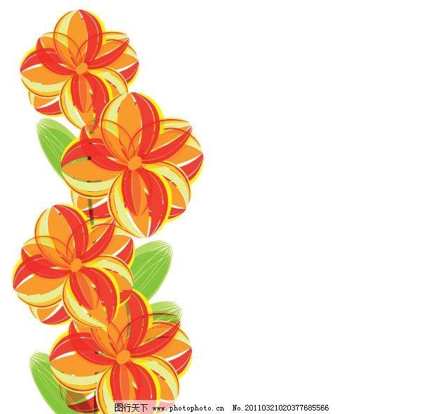 抽象花卉花朵矢量素材图片