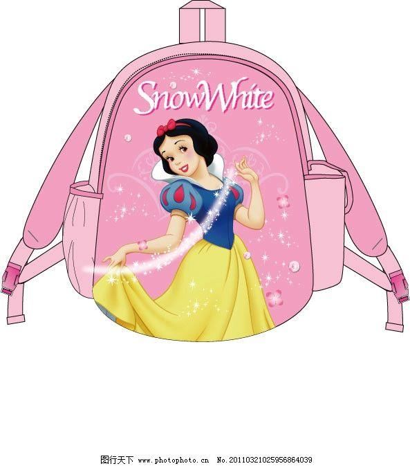 白雪公主书包 迪士尼 卡通 书包 可爱 白雪公主 背包 女孩书包 公主