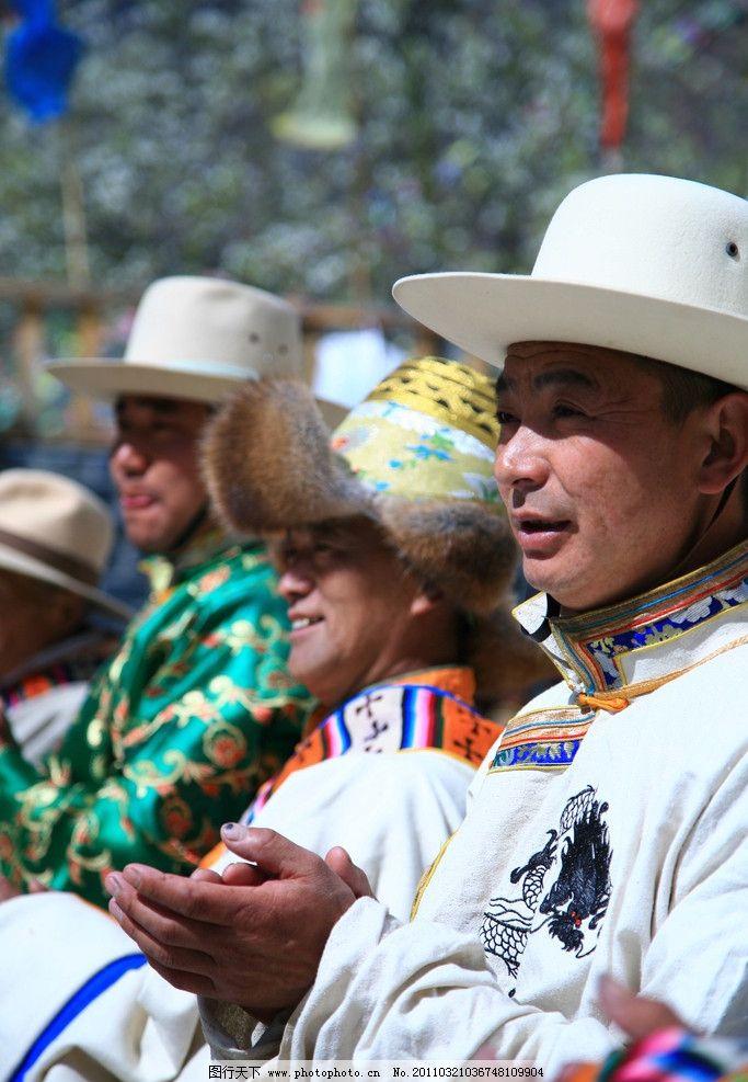 四川 阿坝州 金川县 藏族 男人 服饰 男性男人 人物图库 摄影 72dpi