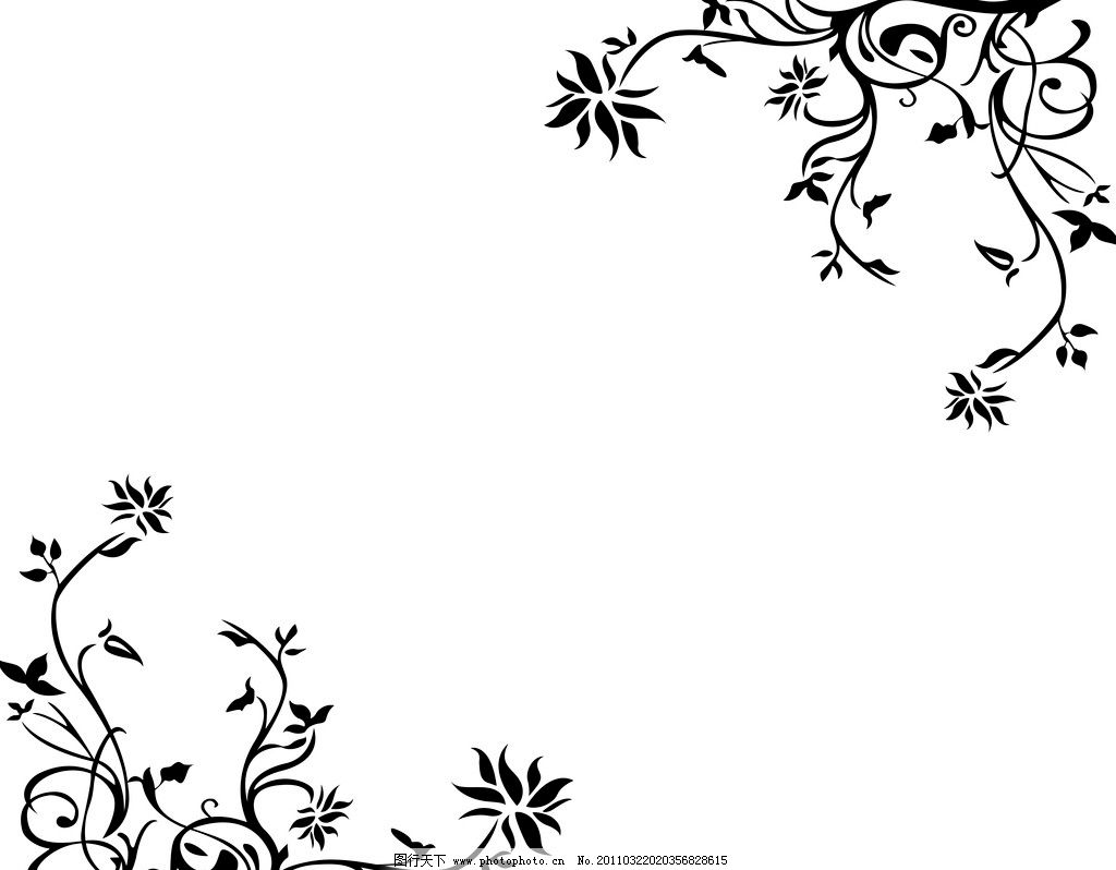 时尚花纹 移门 时尚藤纹 黑白花 对角花 黑色花纹