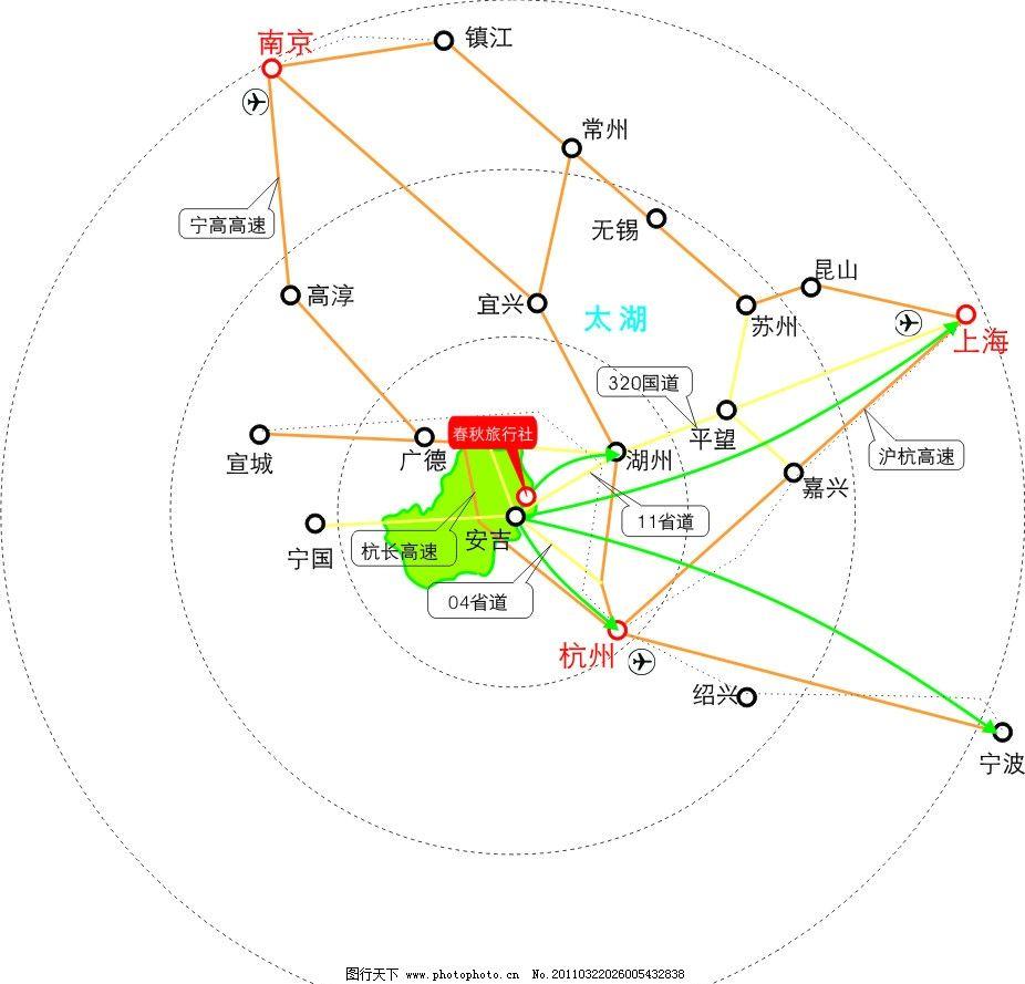安吉旅游路线图图片