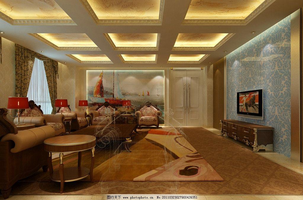接待室效果圖        接待室 西班牙風格 室內設計 環境設計 設計 72