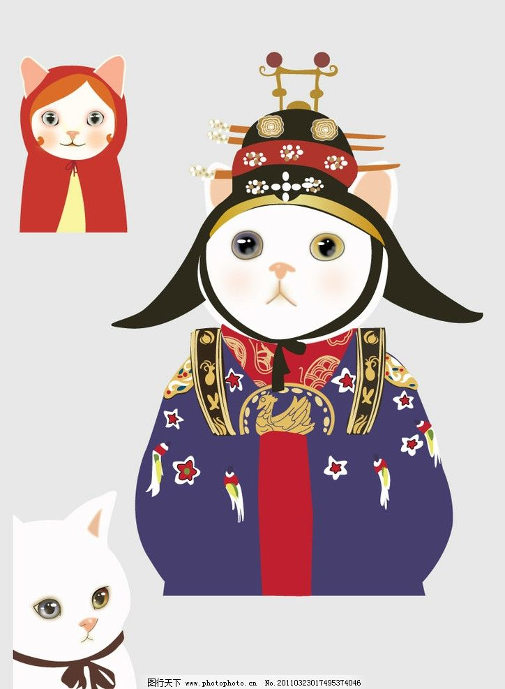 韩国猫 猫 可爱 卡通 矢量 源文件 猫咪 动物 流行 背景 其他生物