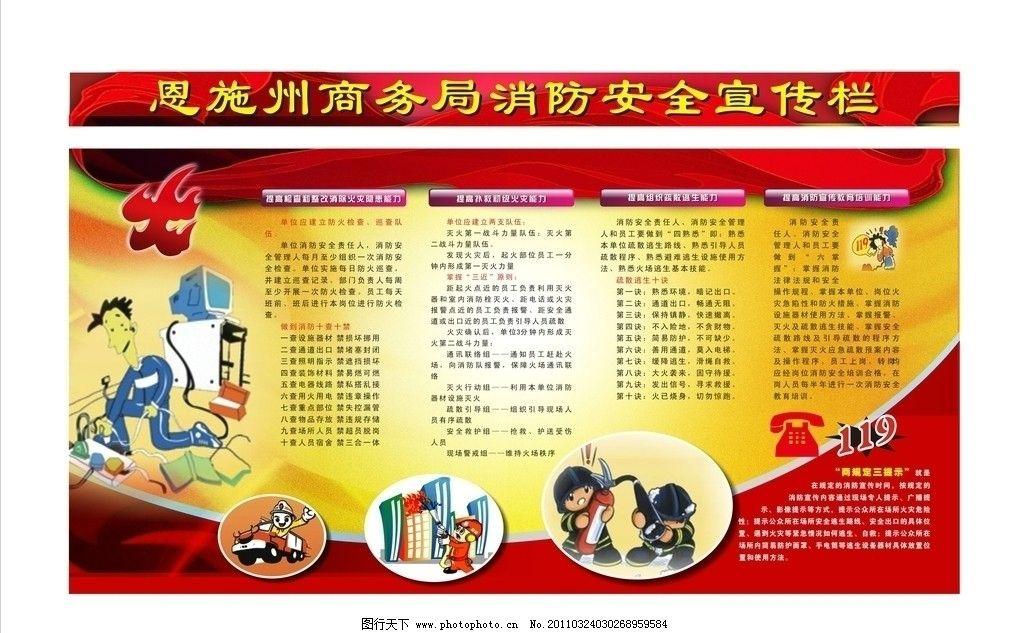 商务局消防安全宣传栏图片